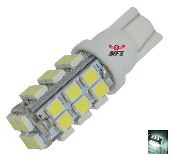 LAMPADA T10 28 LED W5W BRANCO 12V