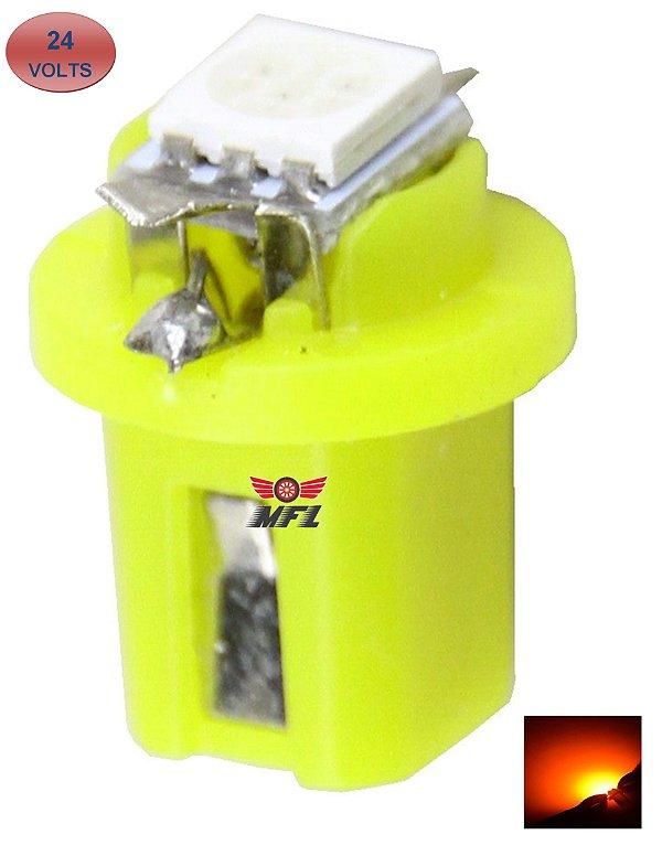 LAMPADA T5 B8.5 D 1 LED AMARELO 24V