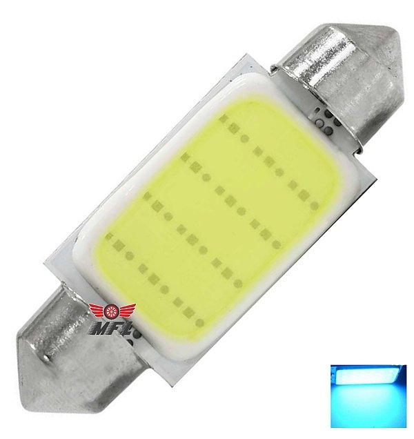 LAMPADA TORPEDO COB LED CHIP C5W 36 MM AZUL CRISTAL 12V
