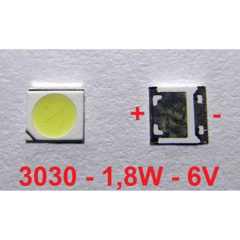 Chip Super Power Led 1,8w 6v 3030 Branco Frio