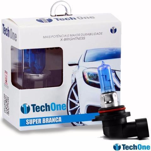 Par Lampada Super Branca Hb4 9006 8500k Tipo Xenon 12v 55w Techone