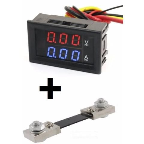 Voltímetro Amperímetro + Shunt Dc 0-100v 0-100a