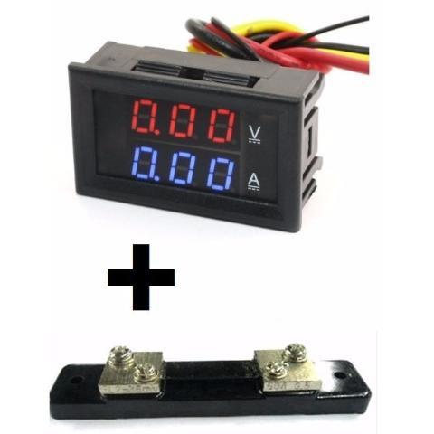 Voltímetro Amperímetro + Shunt Dc 0-100v 0-50a