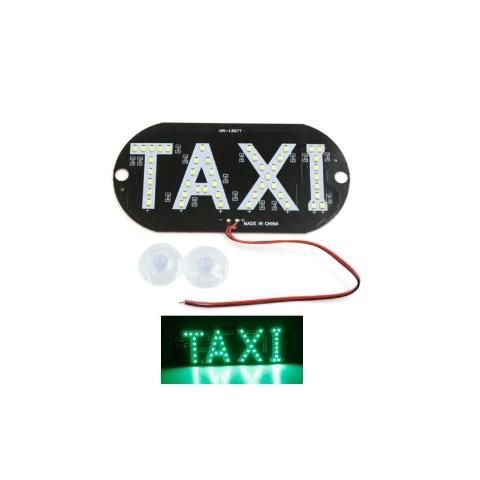 Placa Luminosa 45 Led Taxi Verde
