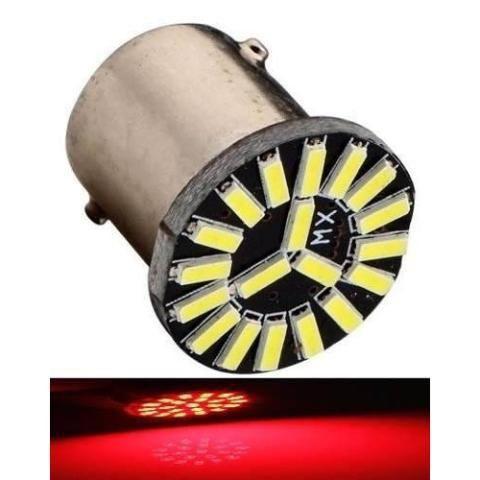 Lampada 19 Led Cambus Ba15s 1 Polo 1156 1141 Vermelho P21w 12v