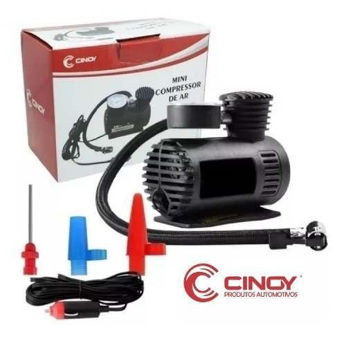 Mini Compressor De Ar Portatil 12v 300psi Carro Calibrador Cinoy