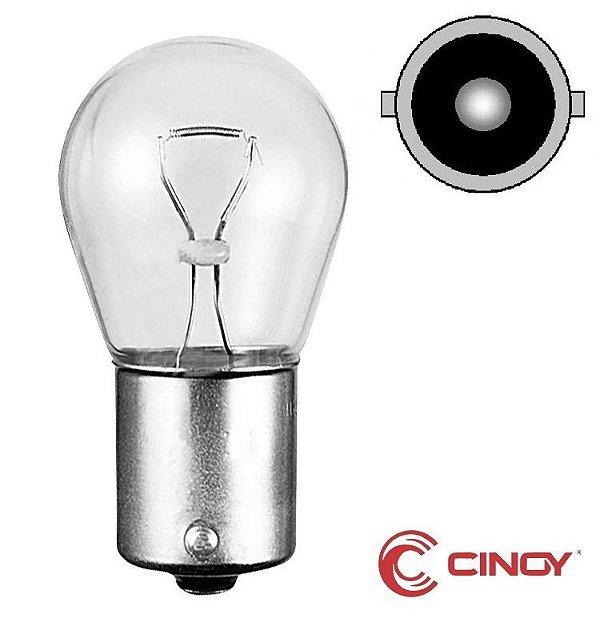 Caixa c/ 10 Lampada Ba15s 1141 Halogena 1 Polo P21w Cinoy 12V