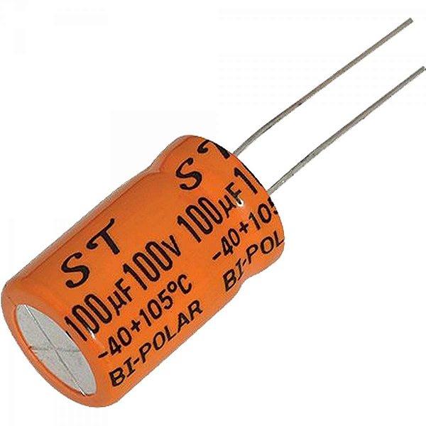 Capacitor Bipolar 100uf X 100v 13x25mm