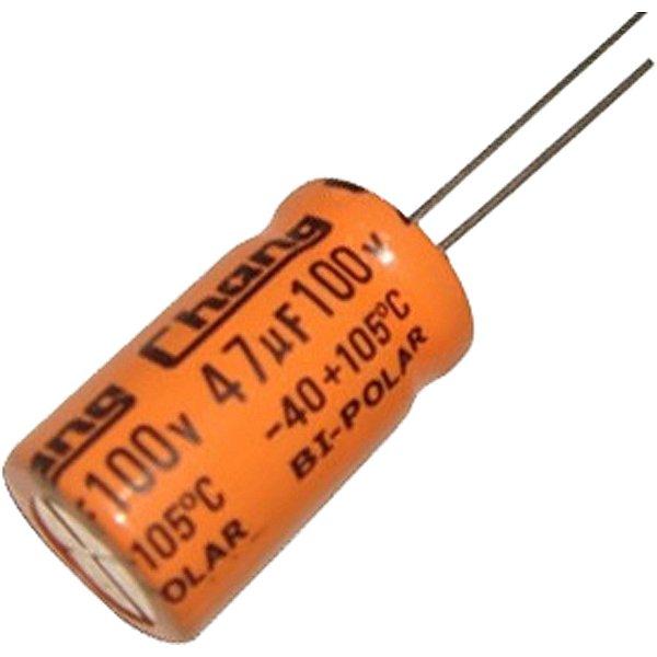 Capacitor Bipolar 47uf X 100v 10x20mm