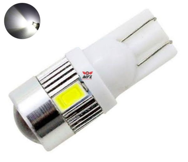 LAMPADA T10 CREE 6 LED W5W WHITE BRANCO 12V