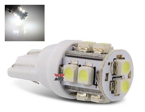 Lampada T10 10 Led W5w Branco 12v