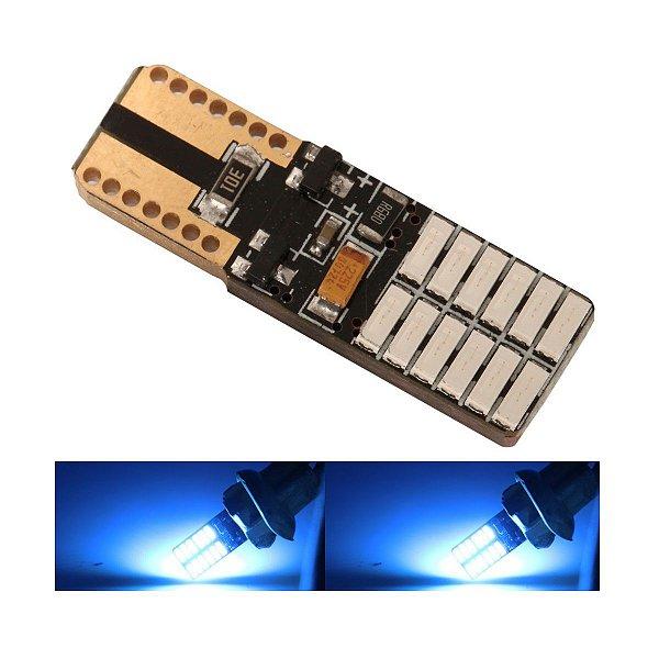 Lampada T10 Cambus 24 Led Canceller 470 W5w Azul 12v