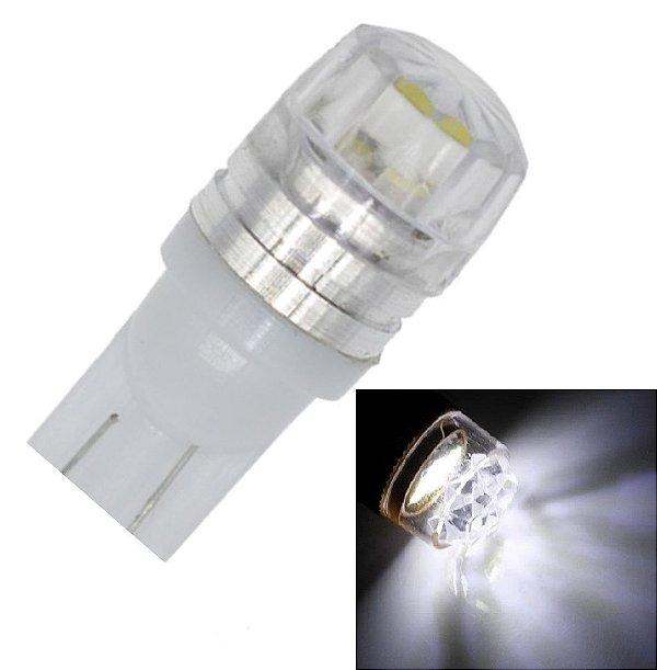 LAMPADA T10 2 LED ESTRELADA W5W BRANCO 12V
