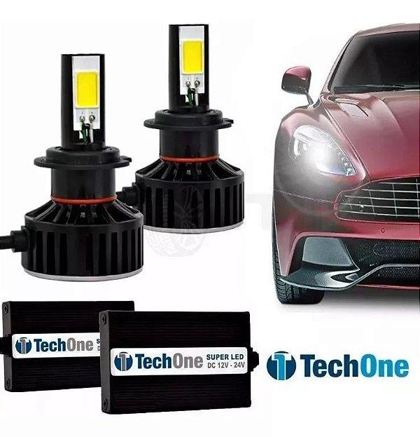 Kit Super Led Tech One Black 7400 lumens 12v 24v H4