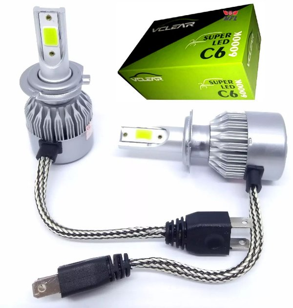 Kit Super Led VClear Cinoy 12v 24v H1