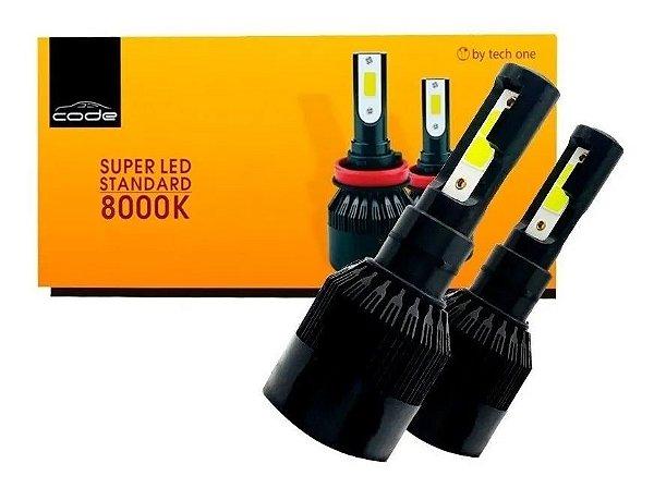 Kit Super Led Code Tech One 12v 24v H27 881 8000K