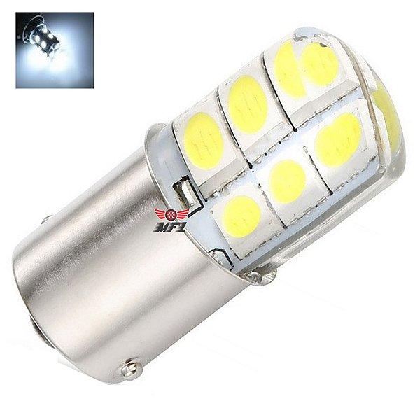Lampada 12 Led Siliconada Ba15s 1 Polo P21w 1156 1141 Branco 12v