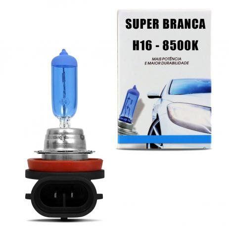 Lampada Super Branca H16 Cachimbo 8500k Xenon 12v 19w Techone (unidade) 12v