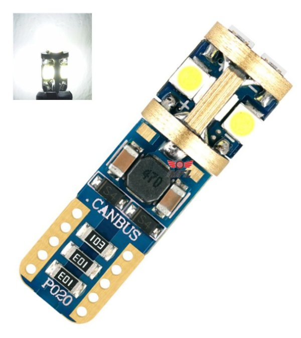 Lampada T10 Cambus Gold 10 Led Canceller Chip Samsung Branco 12v