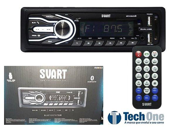 Aparelho De Som Carro Automotivo Pendrive Bluetooth Sd Rádio Svart By Techone