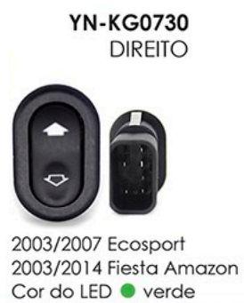INTERRUPTOR VIDRO DIREITO ECOSPORT 03/07,FIESTA AMAZON 03/14