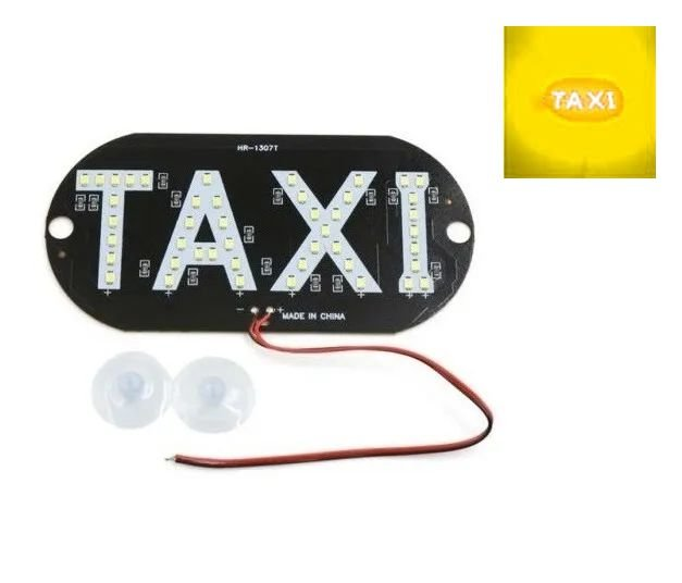 Placa Luminosa 45 Led Taxi Amarelo