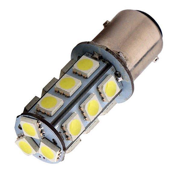 Lampada 18 Led Bay15d 2 Polo 1157 1034 Branco 12v