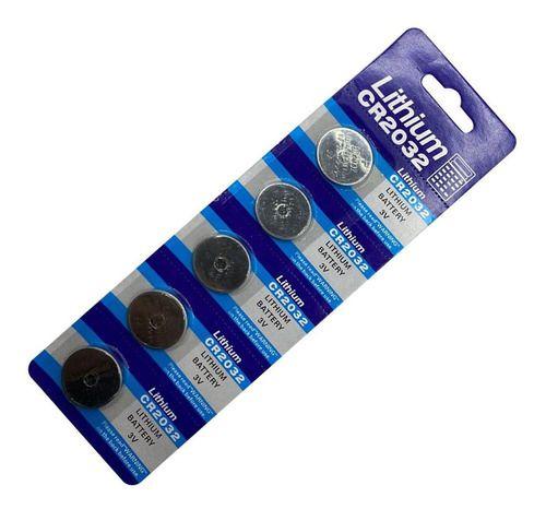 Cartela com 5 Baterias CR2032