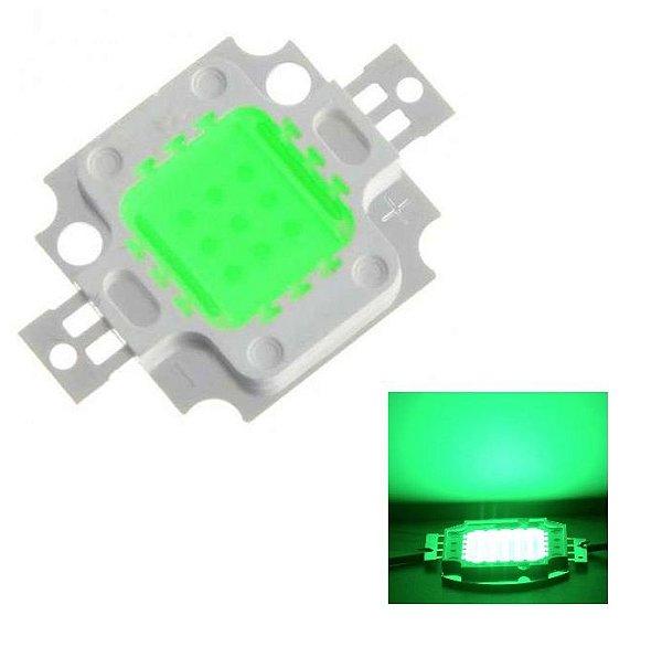 Chip Super Power Led 10w 9v-12v Verde