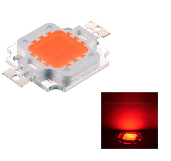 Chip Super Power Led 10w 9v-12v Vermelho