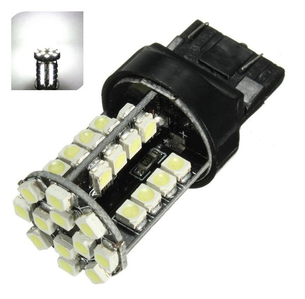 Lampada T20 Cambus 44 Led 2 Polo 7443 W21W Branco 12v