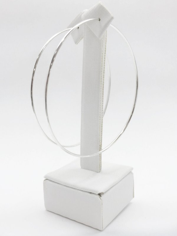 Brinco argola prata 925 fio oval laminado