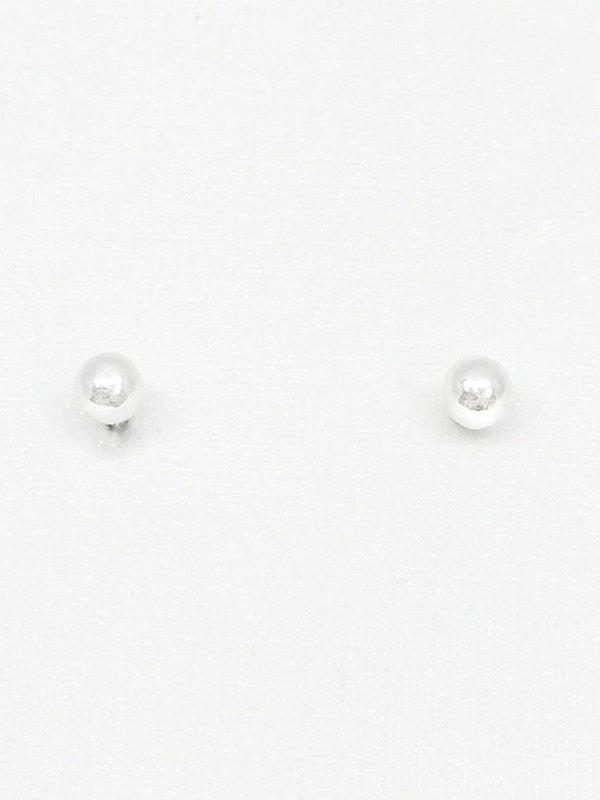 Brinco prata 950 bolinha 3mm