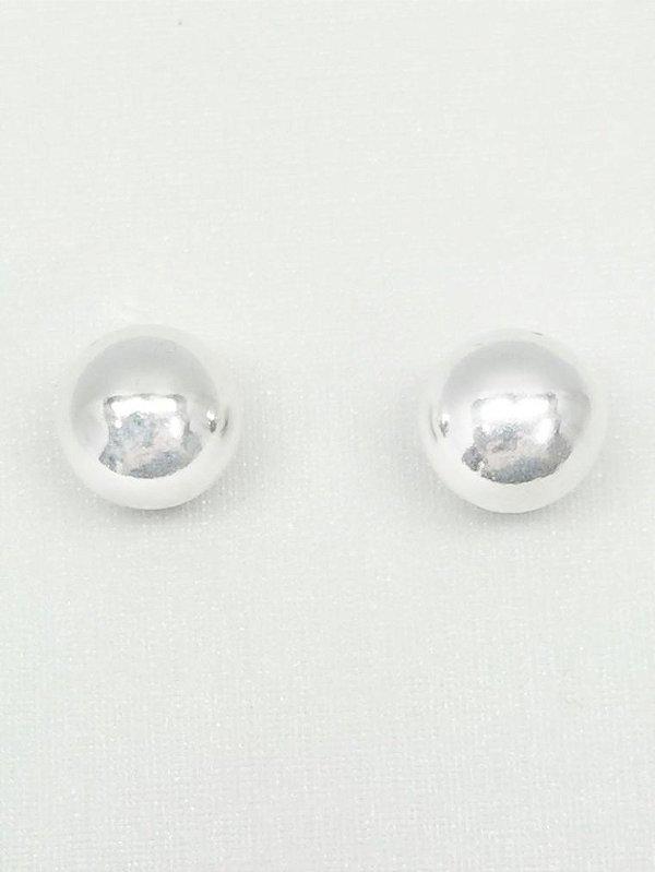 Brinco prata 950 bolinha 8mm
