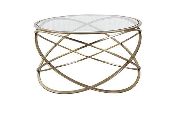 Mesa de Centro Metal Dourado