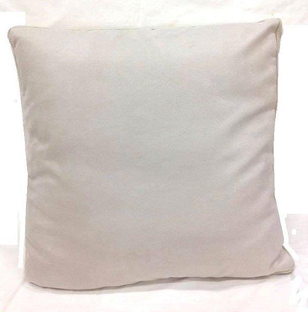 Almofada camurça com Tricô