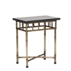 Mesa lateral faux bambu metal