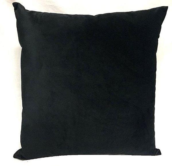 Almofada veludo liso preto