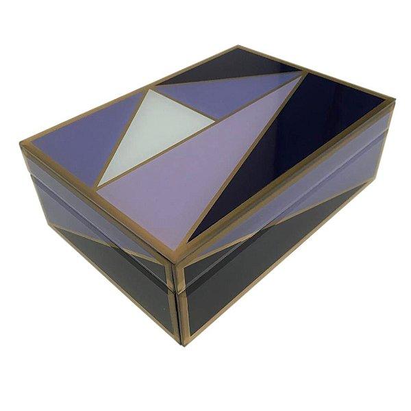 Caixa Geométrica Azul