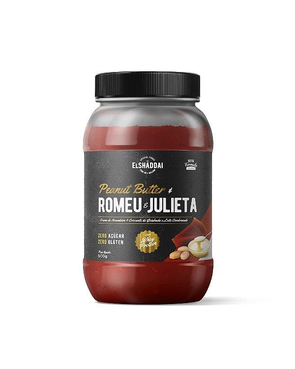 Pasta de Amendoim com Whey sabor creme de Romeu e Julieta, Zero açucar, 500g