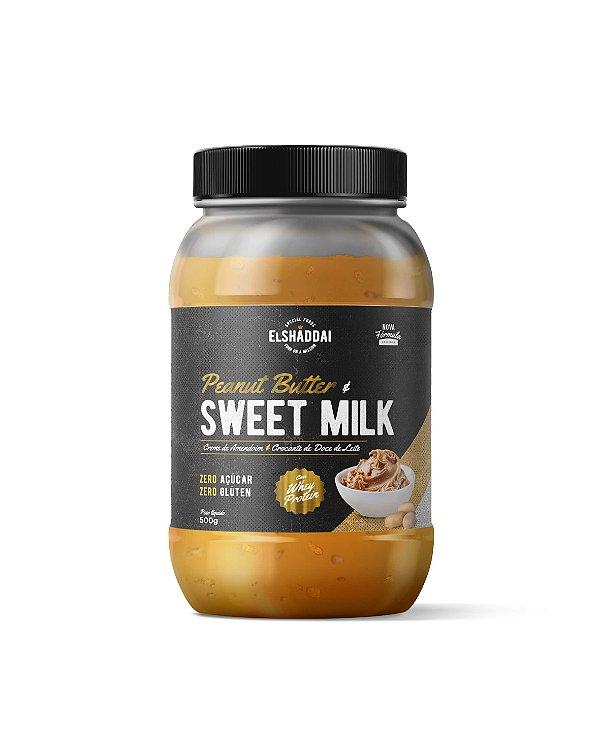 Pasta de  Amendoim sabor Doce de leite com whey Zero açucar 500g