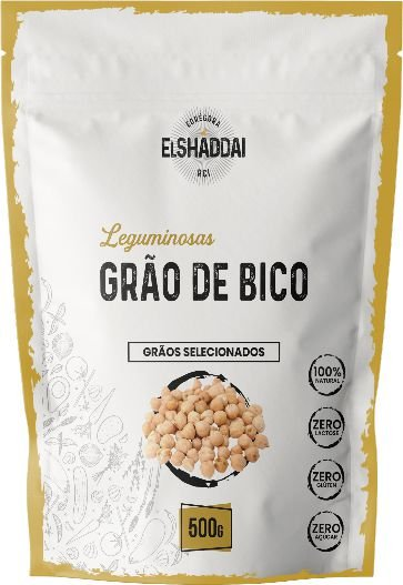 Grão de Bico   500g - PREÇO PROMOCIONAL DE BLACK FRIDAY