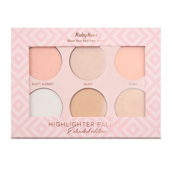 Paleta Iluminador Highlighter Palette - Ruby Rose