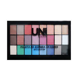Paleta de sombras 24 cores - UNI Make up
