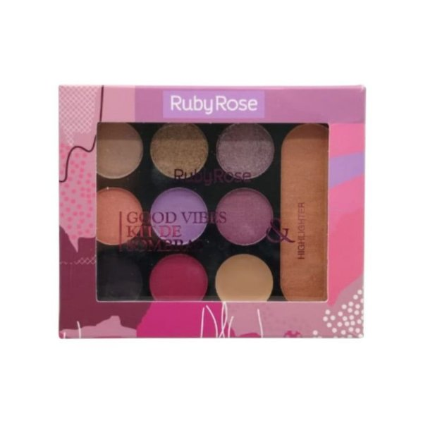 Good Vibes Paleta de Sombra e Iluminador  – Ruby Rose