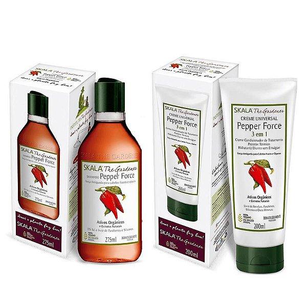 Skala Gardener Peppert Force (Shampoo e Creme de Tratamento)