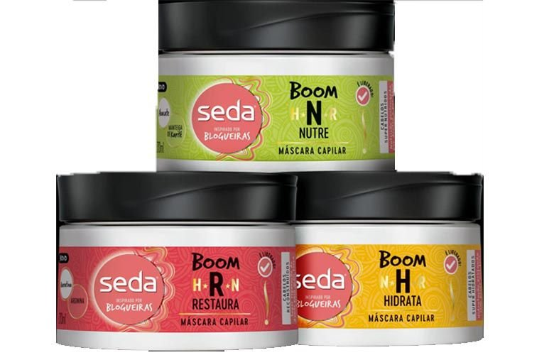 Kit Mascara Hidratação + Nutrição + Reconstrução - Seda boom