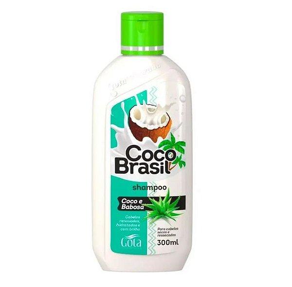 GOTA DOURADA COCO BRASIL SHAMPOO COCO E MANDIOCA 300ML