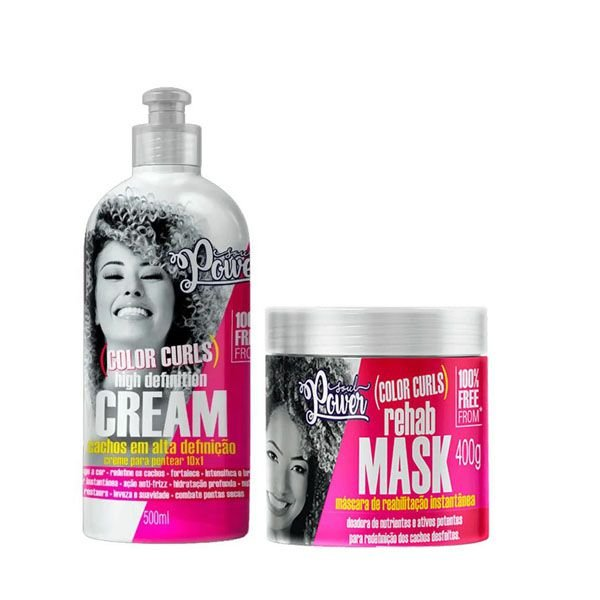 Kit Soul Power Color Curls High Definition + Rehab Mask