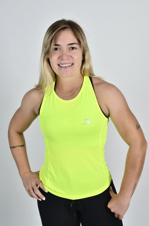 Regata Gumm Tech Run Amarelo Flúor Feminina